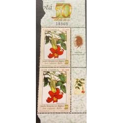A) 2005, COLOMBIA, FLOWERS, BOTANICAL GARDEN OF BOGOTA, THOMAS GREG & SONS, MINISHEET, CLEMATIDE, MNH