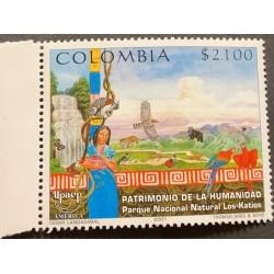A) 2001, COLOMBIA, AMERICA UPAEP, WORLD HERITAGE, THE KATIOS NATURAL NATIONAL PARK, THOMAS GREG & SONS
