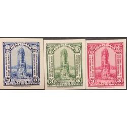 A) 1942, GUATEMALA, COFFEE, AMERICAN BANKNOTE, PRINTING DIE PROOF, MONOLITO QUIRIGUA, UPU
