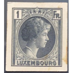 J) 1935 LUXEMBOURG, GRAND DUCHESS CHARLOTTE, 1 FR BLUE, MN