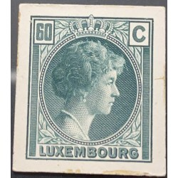 J) 1935 LUXEMBOURG, GRAND DUCHESS CHARLOTTE, 60 CENTS GREEN, MN