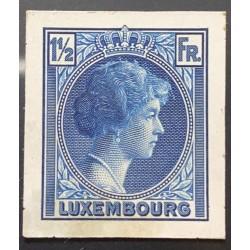 J) 1935 LUXEMBOURG, GRAND DUCHESS CHARLOTTE, 1 1/2 FR BLUE, MN