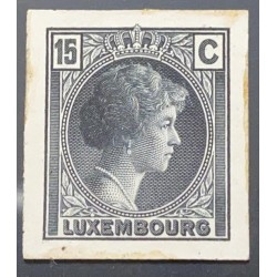 J) 1935 LUXEMBOURG, GRAND DUCHESS CHARLOTTE, 15 CENTS GRAY, MN