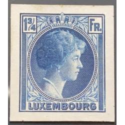 J) 1935 LUXEMBOURG, GRAND DUCHESS CHARLOTTE, 1 3/4 FR BLUE, MN