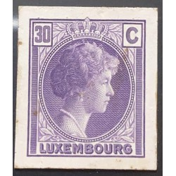 J) 1935 LUXEMBOURG, GRAND DUCHESS CHARLOTTE, 30 CENTS PURPLE, MN