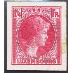 J) 1935 LUXEMBOURG, GRAND DUCHESS CHARLOTTE, 1 1/4 FR PINK, MN