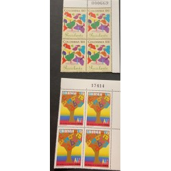 A) 1985, COLOMBIA, EDUCATION AND RECYCLING, MNH, MULTICOLORED