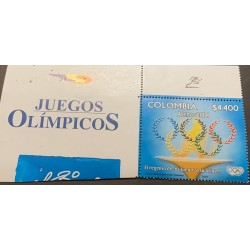 A) 2004, COLOMBIA, OLYMPIC GAMES ATHENS, MNH, MINISHEET, MULTICOLORED