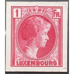 J) 1935 LUXEMBOURG, GRAND DUCHESS CHARLOTTE, 1 FR PINK, MN