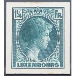 J) 1935 LUXEMBOURG, GRAND DUCHESS CHARLOTTE, 1 1/4 FR GREEN, MN