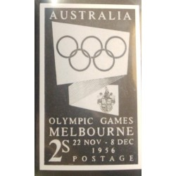 J) 1956 AUSTRALIA, MELBOURNE OLYMPIC GAMES, OLYMPIC RINGS, IMPERFORATED, XF