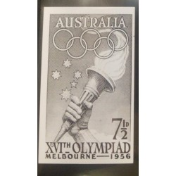 J) 1956 AUSTRALIA, MELBOURNE OLYMPIC GAMES, TURCH, IMPERFORATED, XF