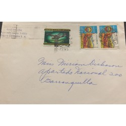 A) 1966, COLOMBIA, CAR, AVIATION, MNH, AERIAL, FROM BOGOTA TO BARRANQUILLA, DORNIER WAL 1924, MULTICOLORED