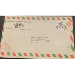 A) 1976, MEXICO, BICYCLE, FROM MEXICO TO UNITED STATES, USED, AIRMAIL