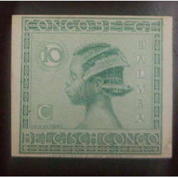 A) 1923, BELGIAN CONGO, LOCAL ASPECTS, ARCHER, 10C, GREEN, HEAVY MOUNTED MINT, AMERICAN BANKNOTE, VLOORS