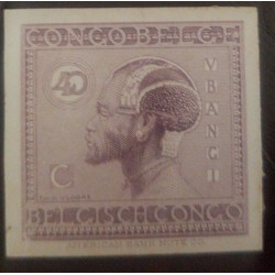 A) 1923, BELGIAN CONGO, LOCAL ASPECTS, DIE PROOF, 40C, HEAVY MOUNTED MINT, VIOLET, AMERICAN BANK NOTE, VLOORS