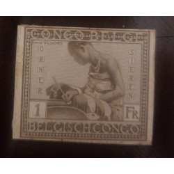 A) 1923, BELGIAN CONGO, LOCAL ASPECTS, DIE PROOF, 1F, FINE, BROWN, AMERICAN BANKNOTE, VLOORS