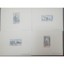 A) 1973, REPUBLIC OF CONGO, OIL INDUSTRY, INSTALLATIONS, PROOF, AIRMAIL, POINTE NOIRE COMPLETESTAMP SET, ISSUED 20TH MARCH