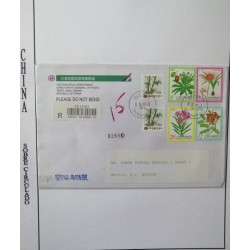 A) 2000, REPUBLIC OF CHINA, POISONOUS PLANTS, ISSUED OF 1988 SURCHARGED 350, FROM TAIPEI TO TAIWAN AND TO MEXICO, AIRMAIL,