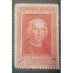 A) 1930, SPAIN, CHRISTOPHER COLUMBUS, SPECIMEN, MNH, 25CTS, OVERPRINT, RED, AIRMAIL