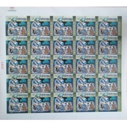 A) 2020, MEXICO, EVERYDAY HEROES, FIGHT AGAINST PANDEMIC, HEALTHCARE WORKERS, NEW ISSUES, MNH, BLOCK OF 25