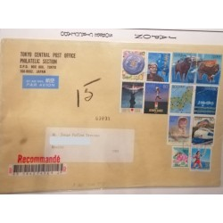 A) 1999, JAPAN, EVENTS, AIRMAIL, FROM TOKIO TO MEXICO, OVERCIRCULATED, THE COVER HAS COMPLETE ADRESS,