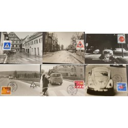 A) 1971, GERMANY, SERIE RULES AND TRAFFIC SIGNS, MAXIMUM CARD, GIFT DAY, BONN1, MNH