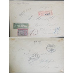 A) 1904, PANAMA, TO GERMANY, CERTIFIED RARE COVER, WITH TRANSIT IN NEW YORK. VERY RARE.-