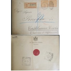 A) 1897, PANAMA, REGISTRATION & MIXED FRANKING: COVER WITH PRINTED RO CONSOLATO D´ITALIA PANAMA,
