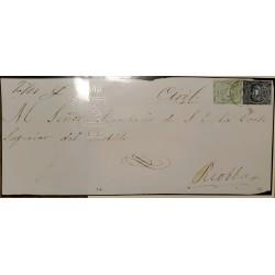 L) 1865-CIRCA, ECUADOR, COAT OF ARMS, CERTIFICATE, MEDIO REAL, UN REAL, GREEN, XF