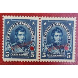 A) 1905, CHILE, BERNARDO O HIGGINS, PUNCH PROOF, SPECIMEN, AMERICAN BANK NOTE IN PARIS, MNH, PRISTINE CONDITION, 5C, BLUE