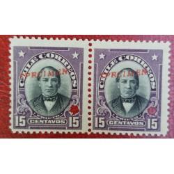 A) 1905, CHILE, JOAQUIN PRIETO, PUNCH PROOF, SPECIMEN, AMERICAN BANK NOTE IN PARIS, MNH, PRISTINE CONDITION, 15C, VIOLET