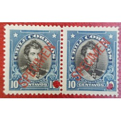 A) 1905, CHILE, BERNARDO O HIGGINS, PUNCH PROOF, SPECIMEN, AMERICAN BANK NOTE IN PARIS, MNH, PRISTINE CONDITION, 10C, BLUE