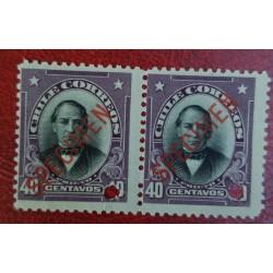 A) 1905, CHILE, JOAQUIN PRIETO, PUNCH PROOF, SPECIMEN, AMERICAN BANK NOTE IN PARIS, MNH, PRISTINE CONDITION, 40C, VIOLET