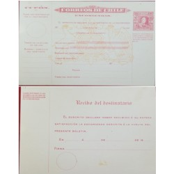 A) 1909-1931, CHILE, POSTAL STATIONARIES, PACKAGE SHIPPING FORMS, LASTRA STAMP