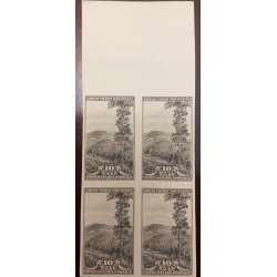 A) 1934, UNITED STATES, GREAT SMOKY MOUNTAINS, IMPERFORATE BLOCK OF 4, NATIONAL PARKS