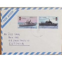 A) 1996, ARGENTINA, BOATS, FROM MAR DE PLATA TO ESTONIA, AERIAL, NAVAL BASE PUERTO BELGRANO STAMPS