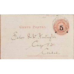 A) 1906, ARGENTINA, POSTAL STATIONARY, BUENOS AIRES, INTERNAL RATE, RED