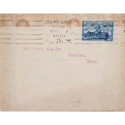 A) 1910, ARGENTINA, CONGRESS PALACE, FROM BUENOS AIRES TO OHIO, CANCELATION
