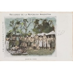 A) 1893, ARGENTINA, INDIANS, SOUVENIR, MAR DE PLATA, COLORED