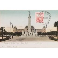 A) 1905, ARGENTINA, POSTCARD, PUERTO LA PLATA, FIRST MEETING