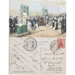A) 1910, ARGENTINA, POSTCARD, FROM BUENOS AIRES TO VENEZIA-ITALY