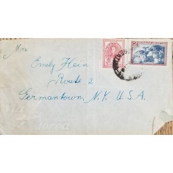 A) 1930, ARGENTINA, AERIAL, FROM BUENOS AIRES TO NEW YORK- UNITED STATES, FRUITCULTURE STAMP
