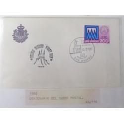 A) 1982, SAN MARINO, POSTCARDS, PRIMO GIORNO, FDC, CENTENARY OF POSTCARD