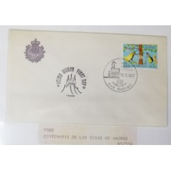 A) 1982, SAN MARINO, NATIONAL SAVINGS BOX, PRIMO GIORNO, FDC