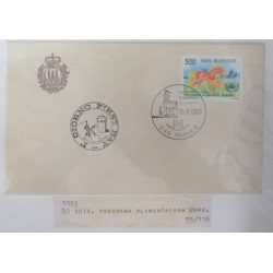A) 1983, SAN MARINO, HORSES, FDC, PRIMO GIORNO, ANNIVERSARY WORLD FOOD PROGRAM
