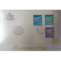 A) 1978, SAN MARINO, AIRPLANE, FDC, ANNIVERSARY OF THE FIRST FLIGHT OF THE BROTHERS WRIGHT