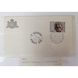 A) 1979, SAN MARINO, SCIENTIFIC, FDC, NOBEL PRIZE IN PHYSICS TO ALBERT EINSTEIN