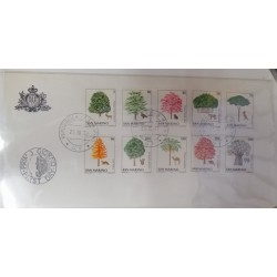 A) 1979, SAN MARINO, TREES, PROTECTION OF THE ENVIRONMENT AND ANIMALS, FDC