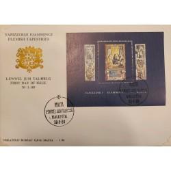 A) 1980, MALTA, FLAMENCO UPHOLSTERIES, FDC, THE GRAND MASTER TAMON PARELLOS